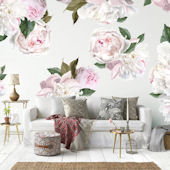 Urbanwalls Peonies Peel and Stick Wall Decals