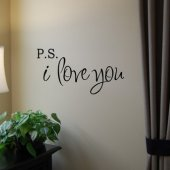 PS I Love You Vinyl Wall Sticker