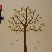 Tree with Leaves Vinyl Wall Sticker