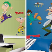 Phineas and Ferb Decal Room Package #2