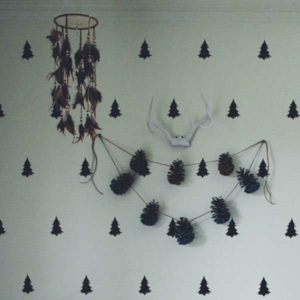 Urbanwalls Pine Tree Wall Decals - Wall Sticker Outlet