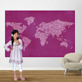 Pink One World Easy Up  Mural