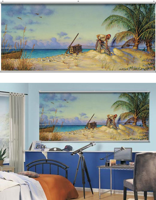Pirate Banking Minute Mural - Wall Sticker Outlet