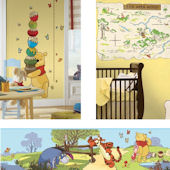Winnie The Pooh Gowth Chart Decal Room Package #1