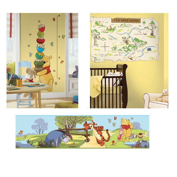 Winnie The Pooh Gowth Chart Decal Room Package #1 - Wall Sticker Outlet
