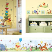 Winnie The Pooh Growth Chart Decal Room Package #2