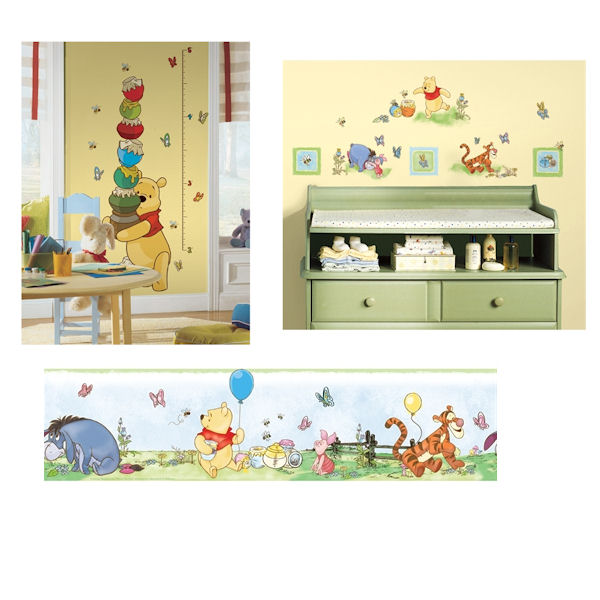 Winnie The Pooh Growth Chart Decal Room Package #2 - Wall Sticker Outlet