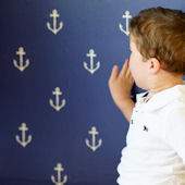 Sarah Jane Anchors Away Peel and Stick Wallpaper