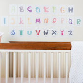 Pop and Lolli Animal Alphabet Fabric Wall Decals