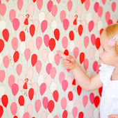 Sarah Jane Balloons  Peel and Stick Wallpaper