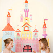 Pop and Lolli Create a Castle Fabric Wall Decals