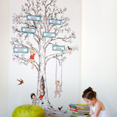 Pop and Lolli Family Tree Fabric Wall Decals