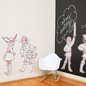 Pop and Lolli Girl Pirates Fabric Wall Decals
