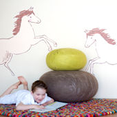 Pop and Lolli Horses Fabric Wall Decals