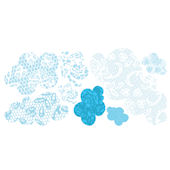 Pop and Lolli Lacey Clouds Fabric Wall Decals