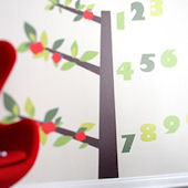 Tree of Wisdom and Numbers Fabric Wall Decals