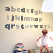 Alphabet Fabric Wall Decals