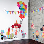 Birthday Celebrations Fabric Wall Decals