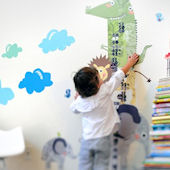 How Tall and I Growth Chart Fabric Wall Decals