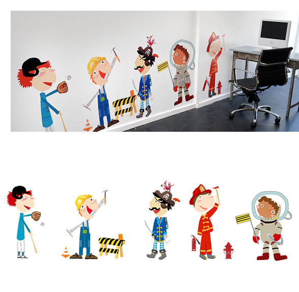 Funky and Fun Fit me Out Boy Fabric Wall Decals - Wall Sticker Outlet