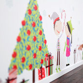 Jingle Bells Christmas Fabric Wall Decals