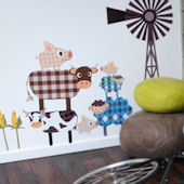 Fashion Farm Gang Fabric Wall Decals