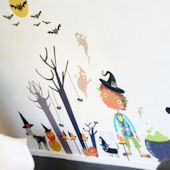 Peek a Boo Halloween Fabric Wall Decals