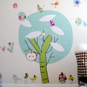 Chirpie Tree Fabric Wall Decals