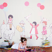 Pop and Lolli On Parade Fabric Wall Decals
