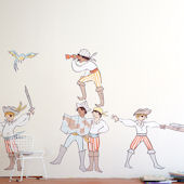 Pop and Lolli Boy Pirates Fabric Wall Decals