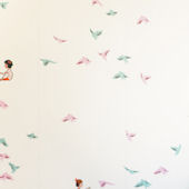 Sarah Jane With the Birds Peel and Stick Wallpaper