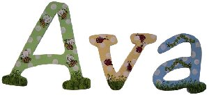 Bees and Bugs Wooden Wall Letters - Kids Wall Decor Store