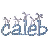 Caleb Wooden Wall Letters