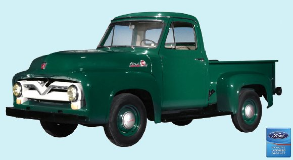 1955 Ford F-100 Pickup Peel and Stick Wall Mural - Kids Wall Decor Store