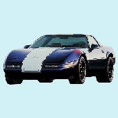 1996 Corvette Grand Sport Peel and Stick Mural