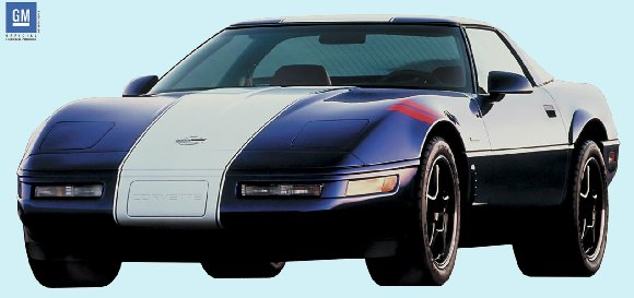 1996 Corvette Grand Sport Peel and Stick Mural - Kids Wall Decor Store