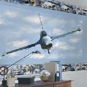 F-16 Falcon Fighter Peel and Stick Wall Mural