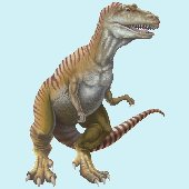 T-Rex Standing Peel and Stick Wall Mural