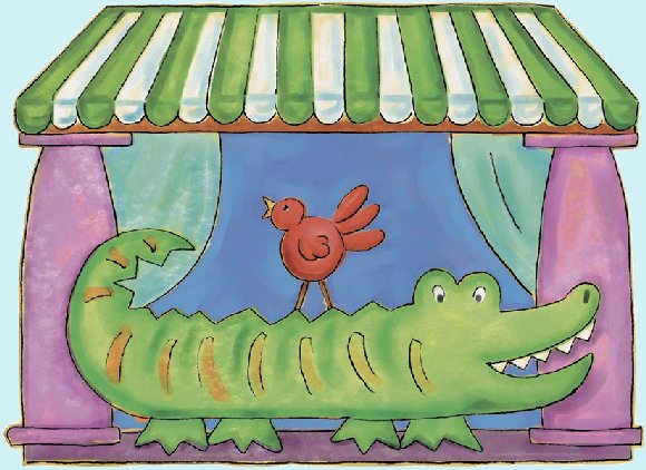 Alligator Peel and Stick Wall Mural - Kids Wall Decor Store