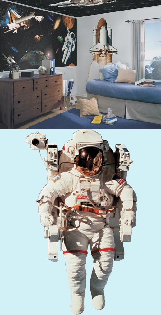 NASA Astronaut Peel and Stick Wall Mural - Wall Sticker Outlet