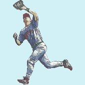 Baseball Fielder Peel and Stick Wall Mural