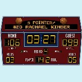 Basketball Scoreboard Peel and Stick Wall Mural
