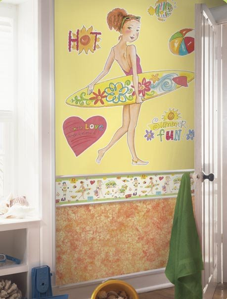 Beach Bum Yohanna Peel And Stick Wall Mural Kids Wall