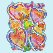 Bright Hearts Peel and Stick Wall Mural