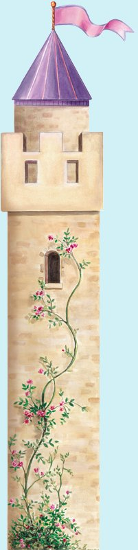 Castle Tower Peel and Stick Wall Mural - Kids Wall Decor Store