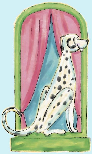 Dalmation Peel and Stick Wall Mural - Kids Wall Decor Store