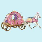 Fantasy Princess Carriage Peel and Stick Mural