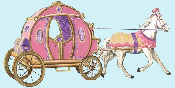 Fantasy Princess Carriage Peel and Stick Mural - Wall Sticker Outlet
