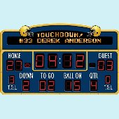 Sports scoreboard wall decals peel stick scoreboard for Baseball scoreboard wall mural