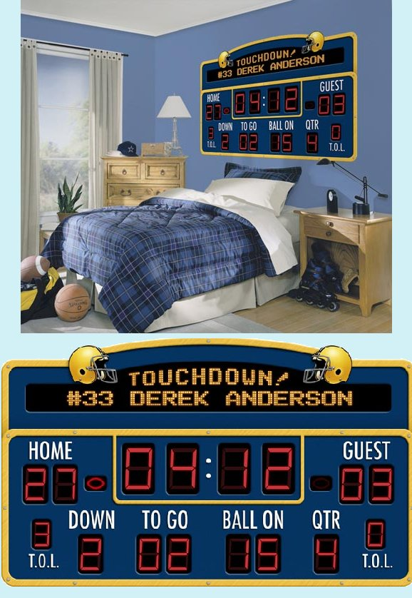 Football Scoreboard Peel and Stick Wall Mural - Wall Sticker Outlet